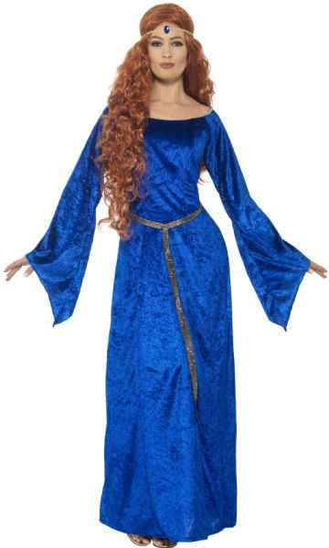 Tales Of Old England - Medieval Maid Costume Blue